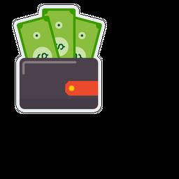 Wallet Flat Icon