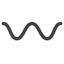 Wavy, Dash, Punctuation Icon of Flat style - Available in