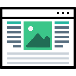 Webpage, Blog, Window, Layout, Center, Photo, Content Icon
