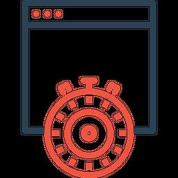 Webpage, Website, Timer, Speed, Optimization, Response, Time, Measure Icon