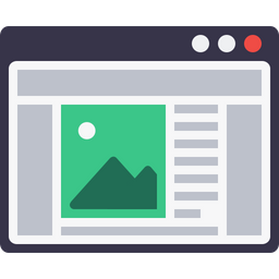 Webpage, Window, Grid, Layout, Design, Blog, Browser Icon
