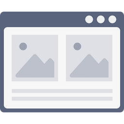 Webpage, Window, Photo, Blog, Layout, Wireframe, Browser Icon
