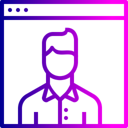 Website, Webpage, Visitor, Male, Optimization, Seo, Calculation Icon