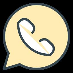Whatsapp Colored Outline  Logo Icon