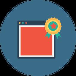 Window, Web, Seo, Star, Badge, Bookmark, Favorite, Award Icon png