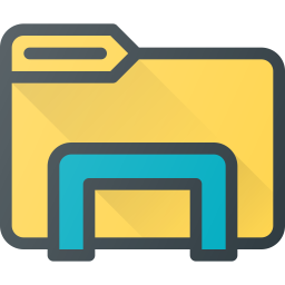 Windows explorer Logo Icon of Colored Outline style - Available in