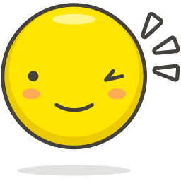Wink Emoji Icon of Colored Outline style - Available in ...