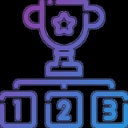 Winner Gradient Icon