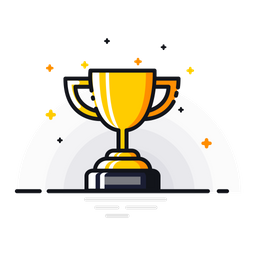 winner icon of colored outline style available in svg png eps ai icon fonts winner icon of colored outline style