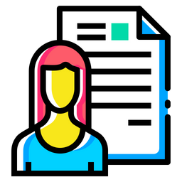 Woman, Lady, Resume, Document, Employee, Shortlisted, Avatar Icon png