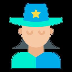 Woman Sheriff Icon