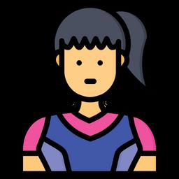 Women Hockey Icon
