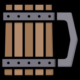 Wooden mug Icon