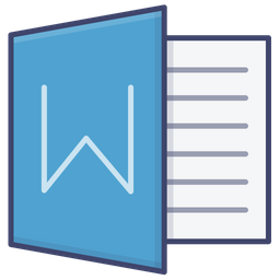 Word Logo Icon Of Colored Outline Style Available In Svg Png Eps Ai Icon Fonts