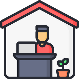Work From Home Icon Of Colored Outline Style Available In Svg Png Eps Ai Icon Fonts See more ideas about work icon, icon, icon set. available in svg png eps ai icon fonts