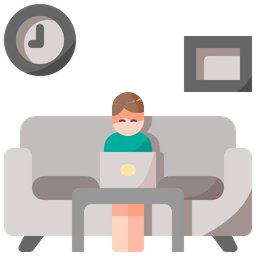 Working On Couch Icon