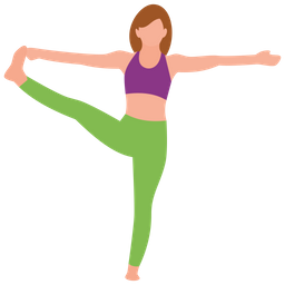 631d7c8330021 Yoga Icon of Flat style - Available in SVG