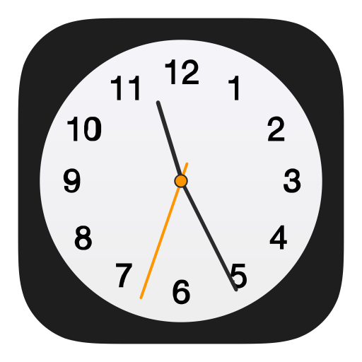 Apple Clock Icon of Flat style - Available in SVG, PNG, EPS, AI & Icon fonts
