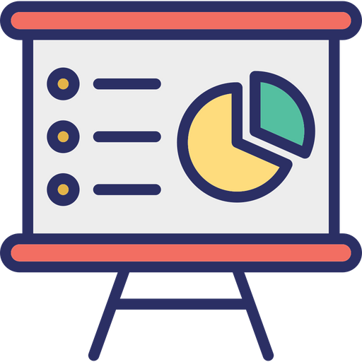 Business presentation Icon of Colored Outline style - Available in ...