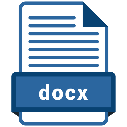 Docx file Icon of Colored Outline style - Available in SVG