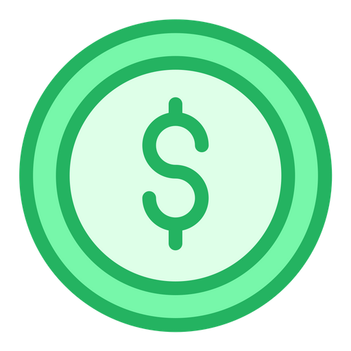 Dollar Coin Icon Of Colored Outline Style Available In Svg