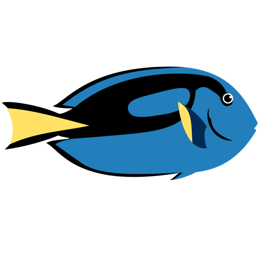 Dory Blue Tang Fish Icon Of Flat Style Available In Svg Png Eps Ai Icon Fonts