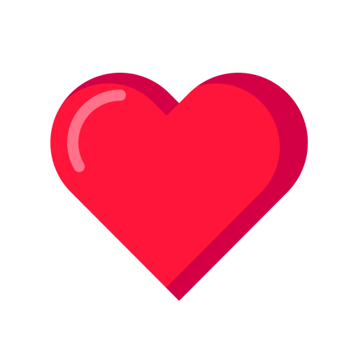 Heart Icon of Flat style - Available in SVG, PNG, EPS, AI & Icon fonts