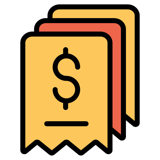 Payroll Icon of Colored Outline style - Available in SVG