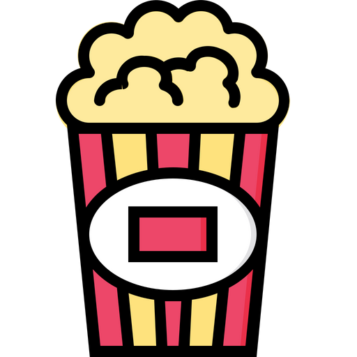 popcorn icon of colored outline style available in svg png eps ai icon fonts popcorn icon of colored outline style