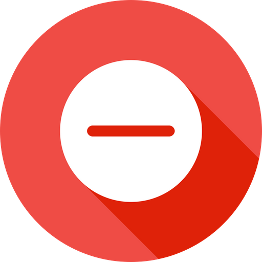 Remove, Minus, Subtract, Outline, Interface, Circle Icon of
