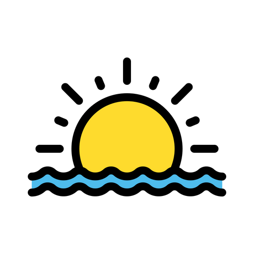 sunset icon of colored outline style available in svg png eps ai icon fonts sunset icon of colored outline style
