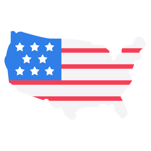 USA Map Icon of Flat style - Available in SVG, PNG, EPS, AI ...