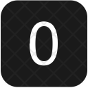 Keyboard Zero Count Icon