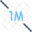 1 Meter Distance Distance 1 Meter Icon
