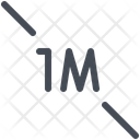 1 Meter Distance Icon