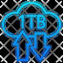 1 Tb Storage Storage Transfer Icon
