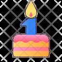Cake Anniversary Badge Icon