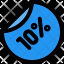 10 Percent Label Icon