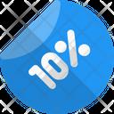 10 Percent Label Percent Label Discount Sticker Icon