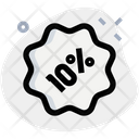 10 Percent Sticker Discount Sticker Percent Label Icon