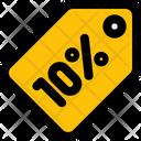 10 Percent Tag Icon
