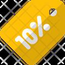 10 Percent Tag 10 Percent Label Discount Tag Icon