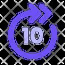 10 S Fast Forward Icon