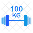 100 Kg Barbell Icon