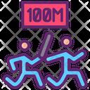 100 M Relay Icon