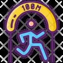 100 M Sprint Icon