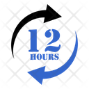 12 Hours Help Time Icon