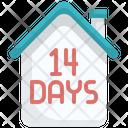 14 Days Home Quarantine Home Quarantine 14 Days Quarantine Icon