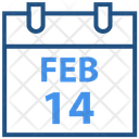 Valentines Day February Calendar Icon