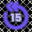 15 S Backwards Icon